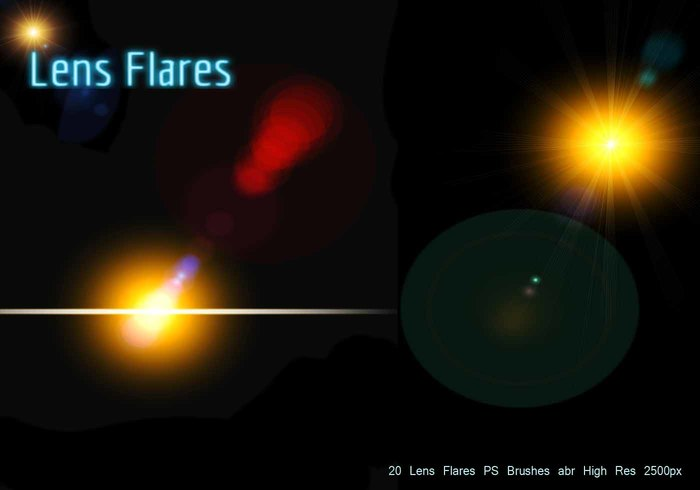 20 Lens Flares PS Brushes