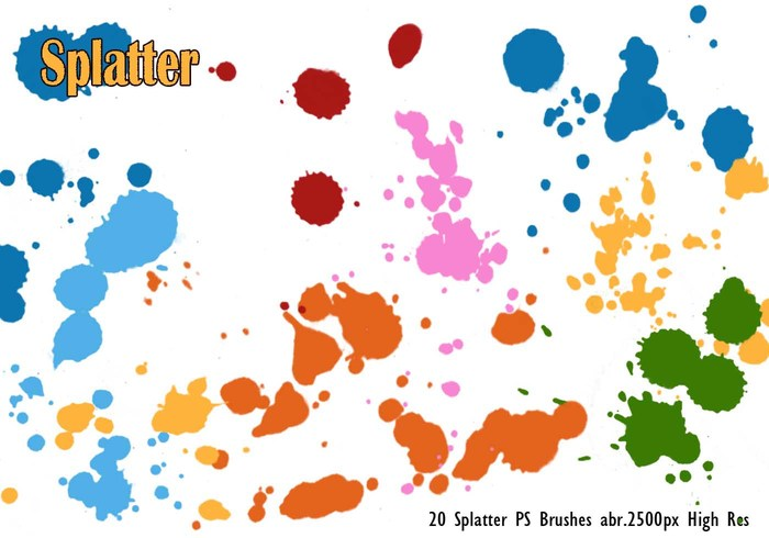 20 Splatter PS Bürsten abr.vol.1