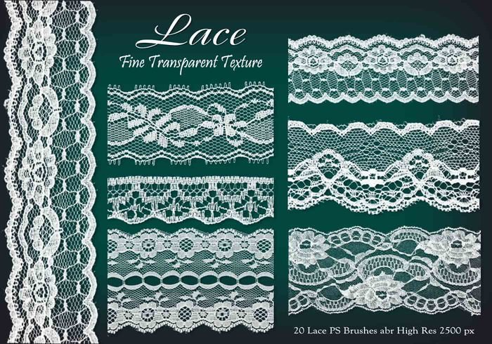 20 Lace PS Brushes abr vol 5