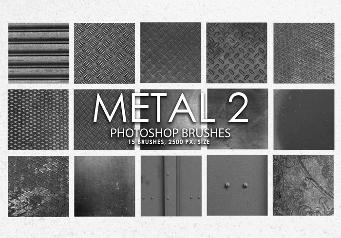 Free Metal Photoshop Brushes 2
