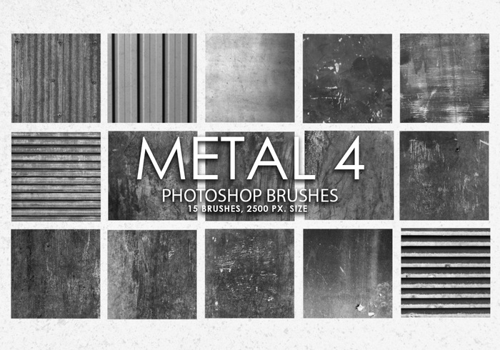 Free Metal Photoshop Brushes 4