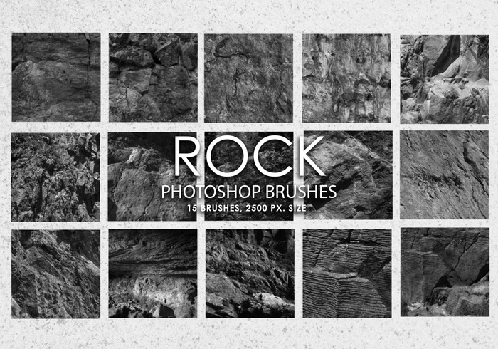 Escovas gratuitas do photoshop de rock