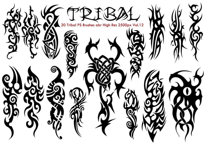 Tribal PS Brushes Vol.12