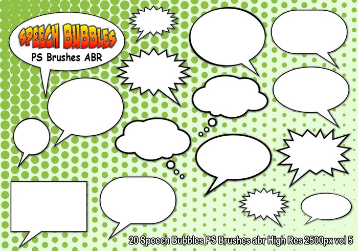 Speech Bubbles PS Brushes abr  vol 5
