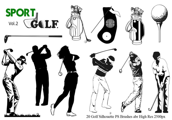 Golf Silhouette PS Bürsten abr. Vol 2