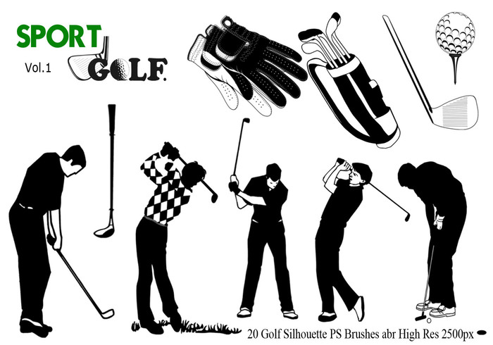 Golf Silhouette PS Brushes abr. vol. 1