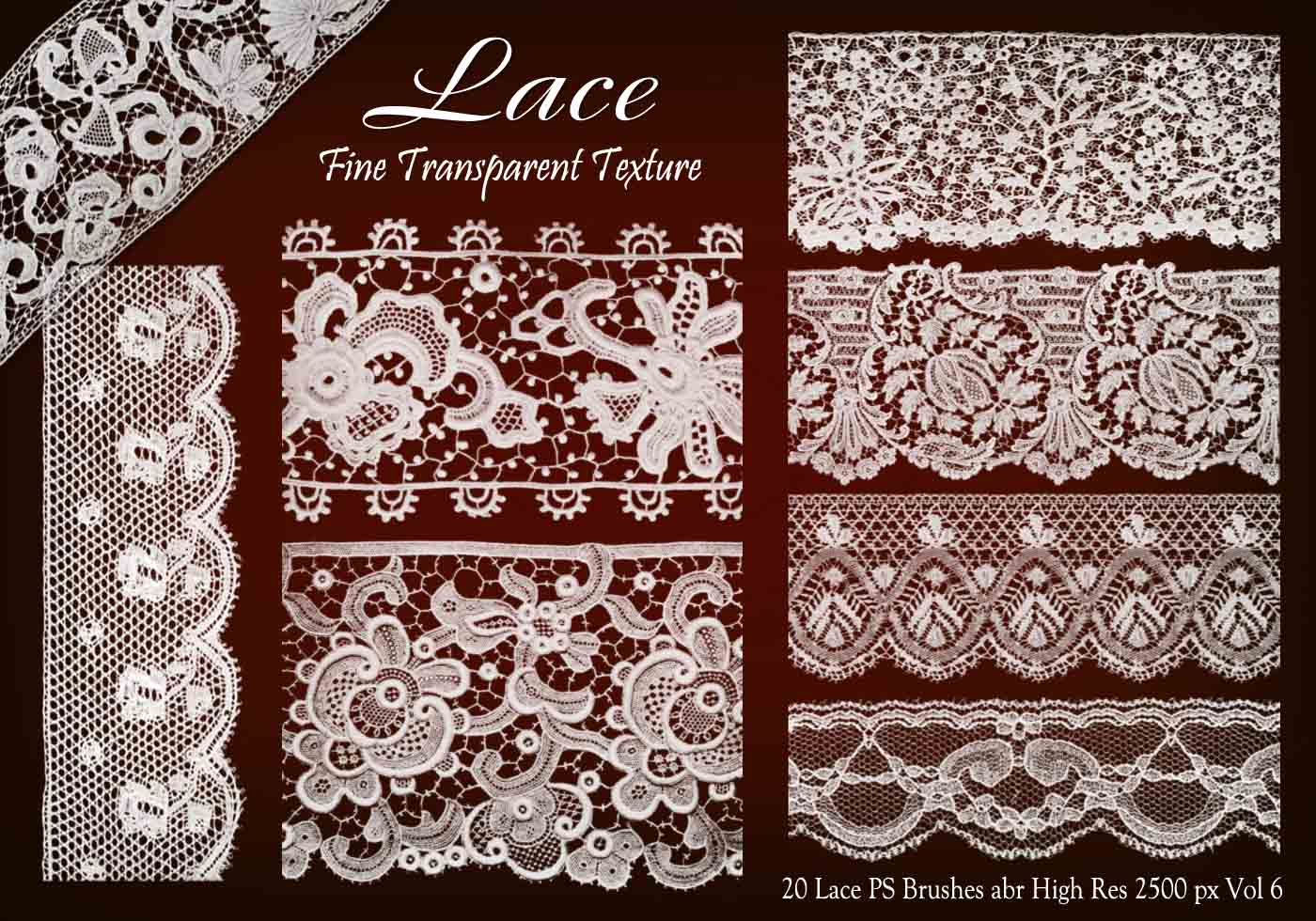 20 lace ps brushes abr vol 6 free photoshop brushes at
