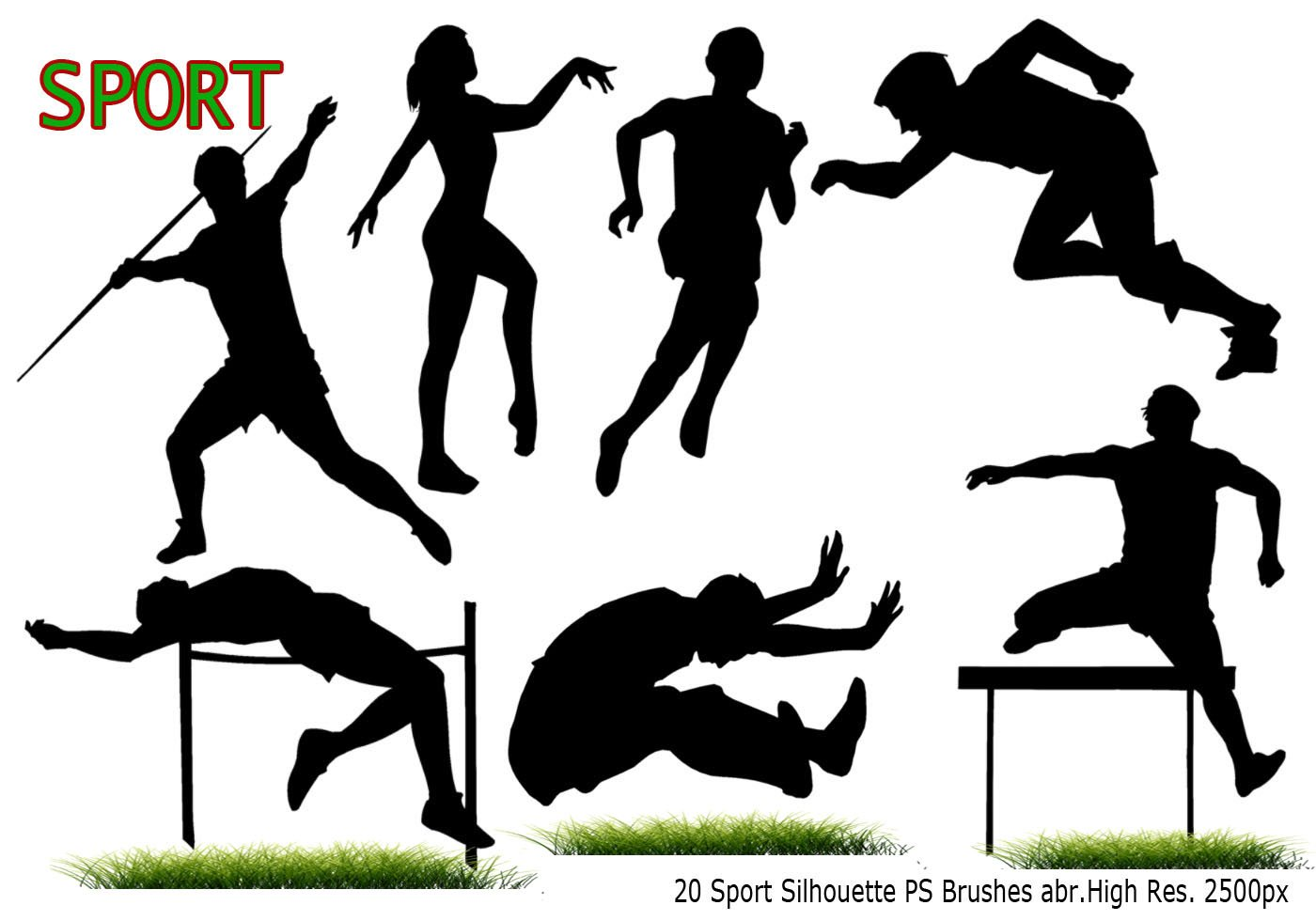 Dynamic Sports Figures Silhouette: Sport Silhouette PS Brushes Abr