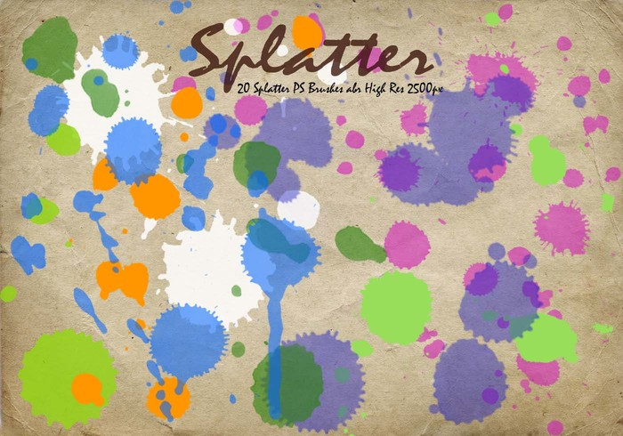 Splatter PS Brushes abr