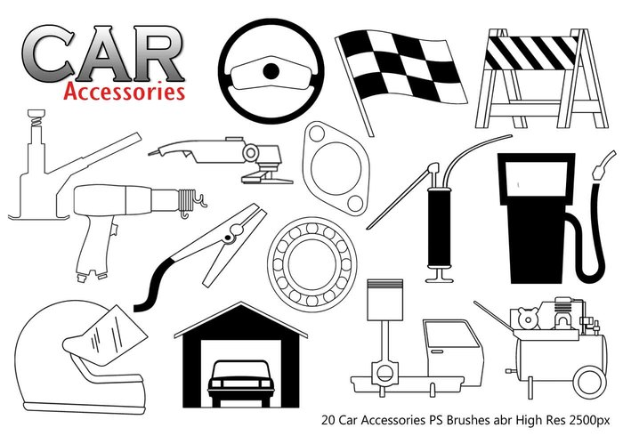 Car Accessories PS Brushes abr