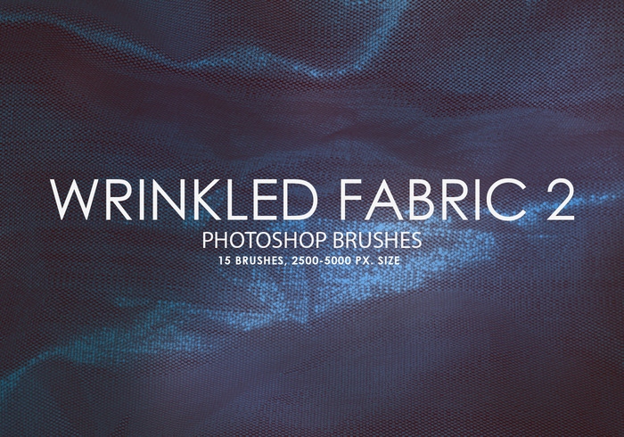 Free Wrinkled Fabric Photoshop Bürsten 2