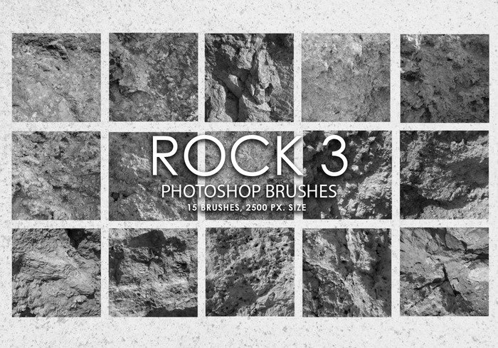 Gratis Rock Photoshop borstar 3