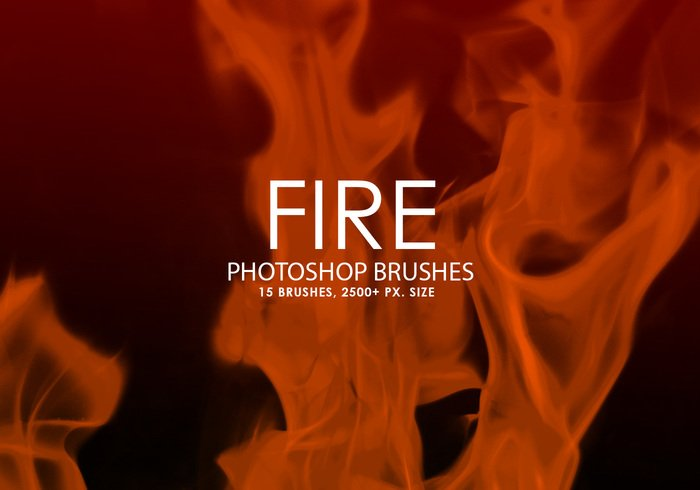 Brosses de photoshop de feu