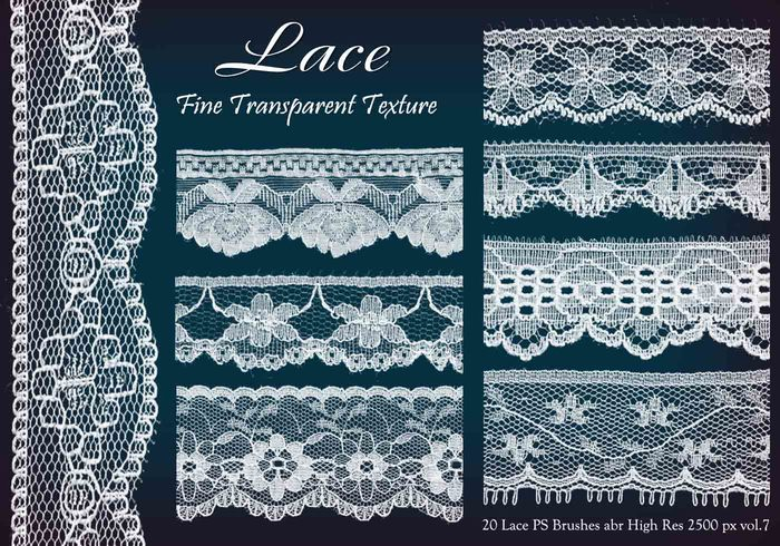 20 Lace PS Brushes abr  vol 7