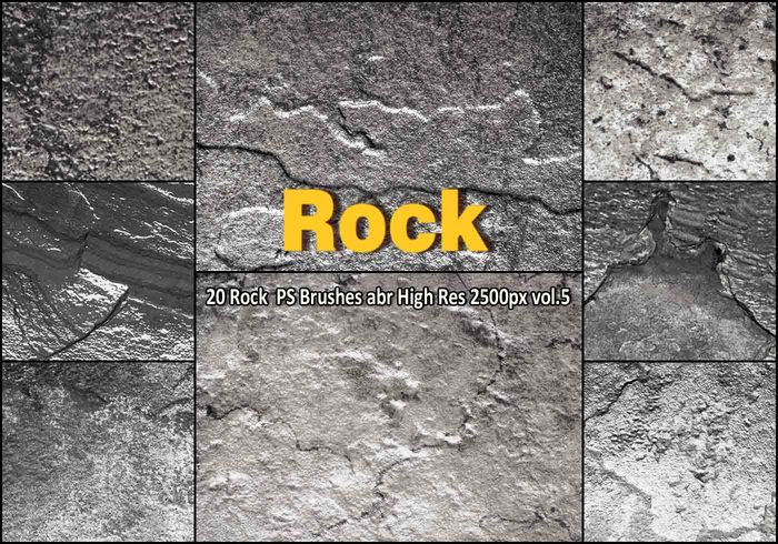 Rock Texture PS Brushes abr vol.5