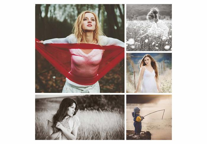 20x20 Photo Template eller Blogg Board PSD