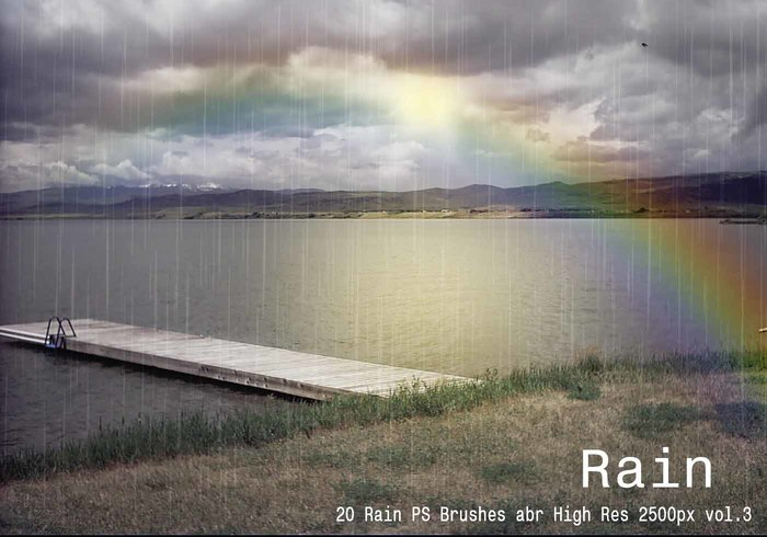 20 Rain PS Brushes abr vol.3