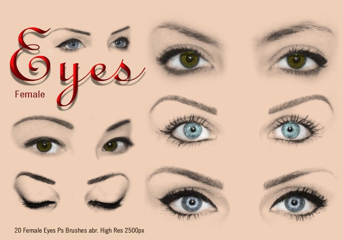 20 Female Eyes Ps Brushes abr.