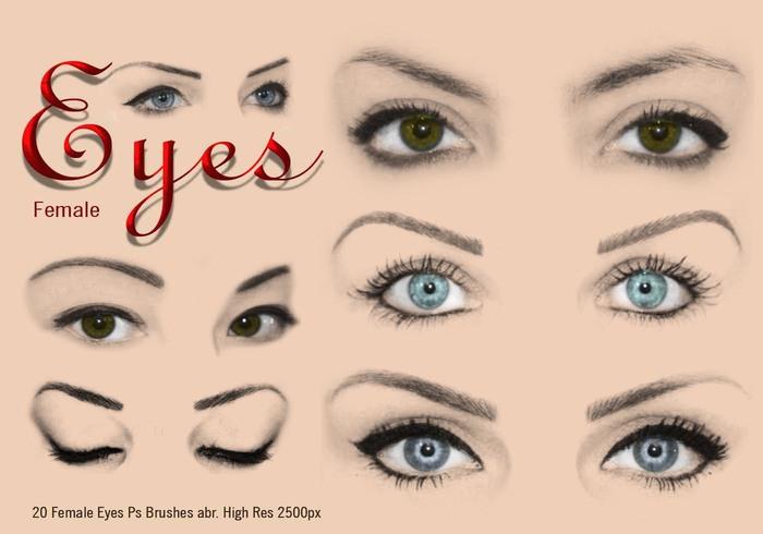 20 Olhos Femininos Ps Escovas abr.