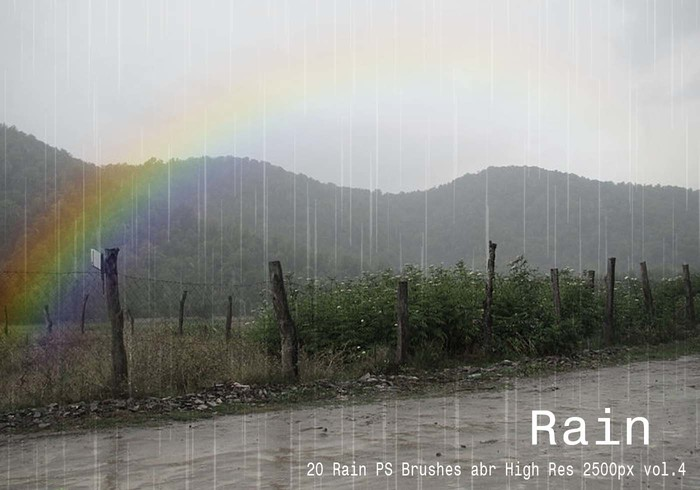 20 Rain PS Brushes abr vol.4