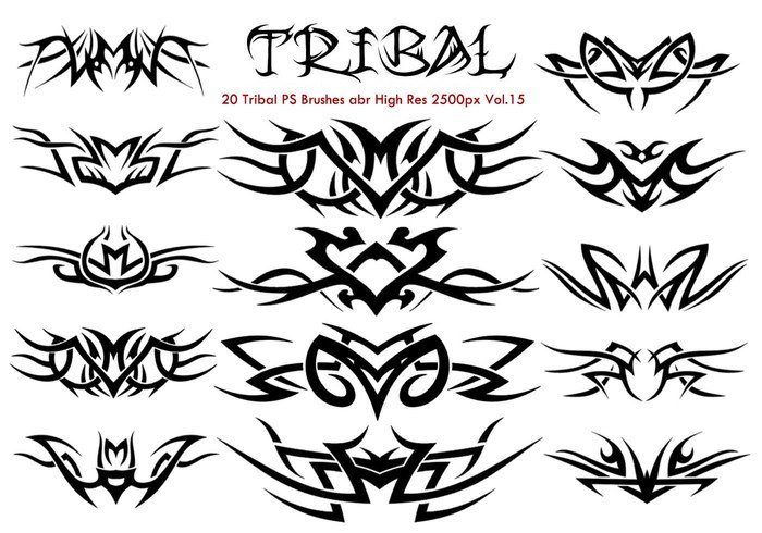 20 Tribal PS Brushes Vol.15