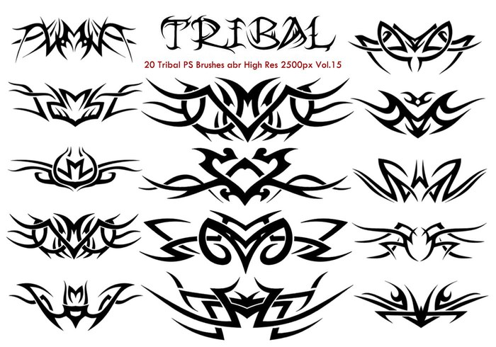 20 Tribal PS Bürsten Vol.15