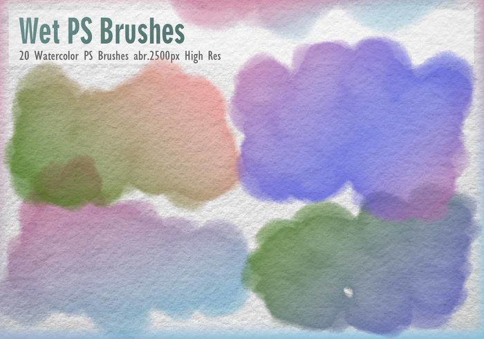 20 Watercolor PS Brushes abr.