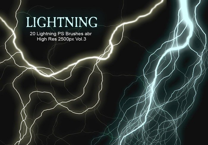 20 Lightning PS Brushes abr vol.3