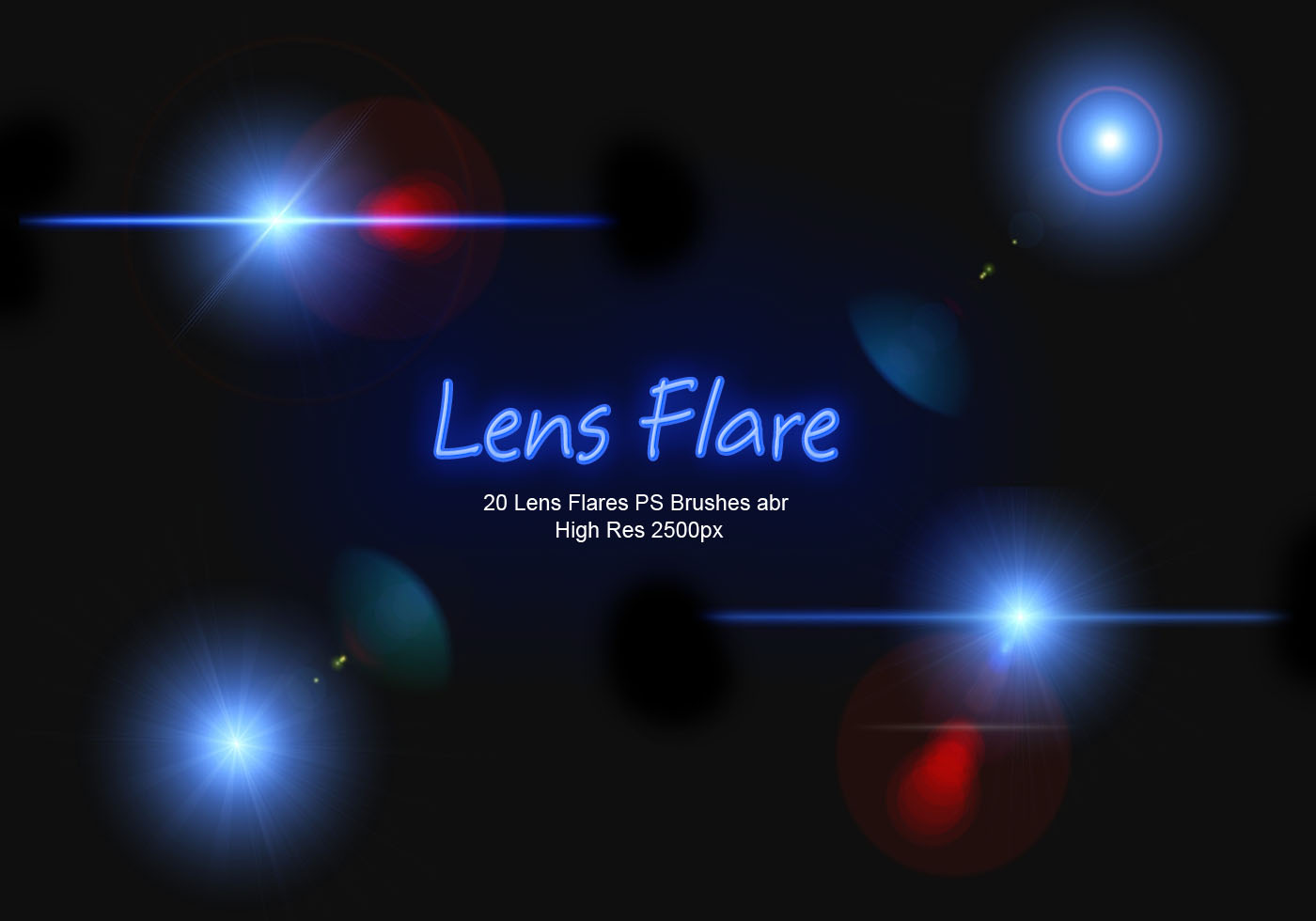 20 lens flares ps brushes abr vol 5