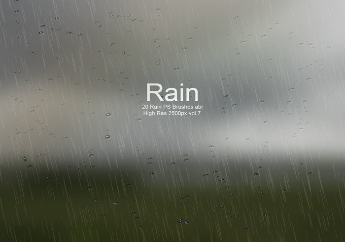 20 Rain PS Brushes abr vol.7