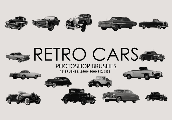 Gratis Retro Cars Photoshop Borstels