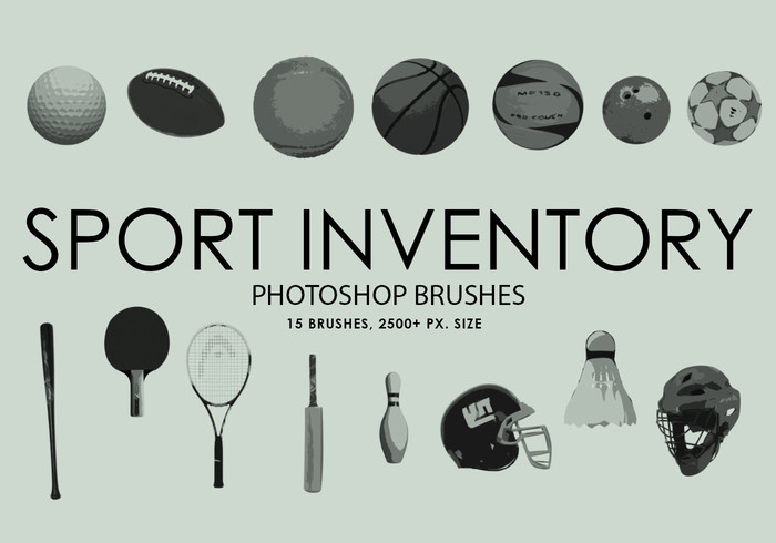 Free Sport Inventory Photoshop Brushes