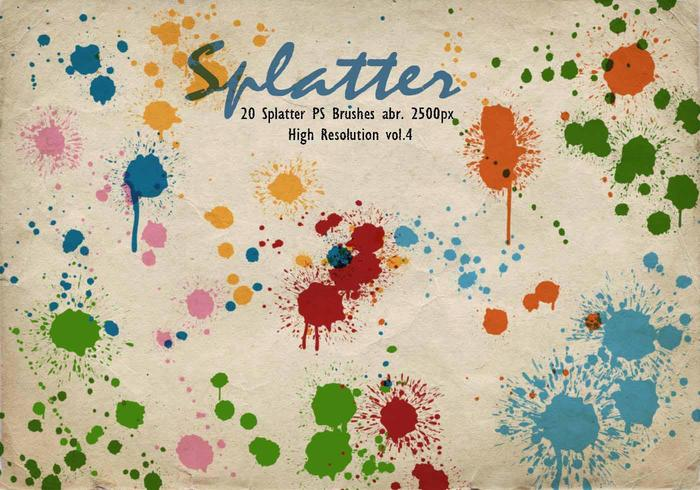 20 Splatter PS Bürsten abr.vol.4