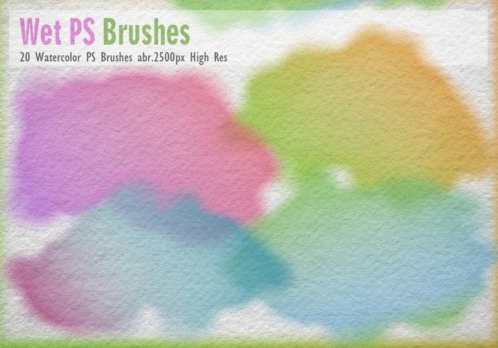 20 Brosses d'aquarelle PS abr.
