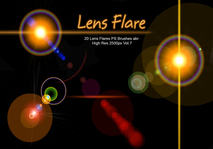 20 Lens Flares PS Brushes abr vol.7