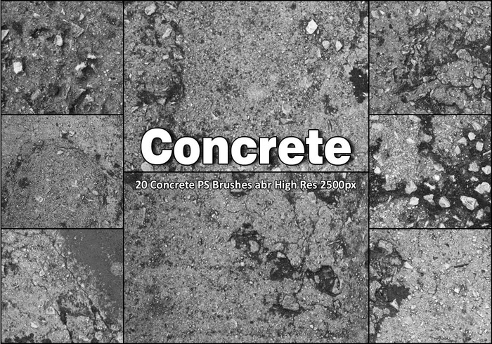 20 Concrete PS Brushes abr