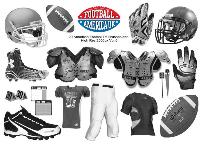 20 American Football Ps Bürsten abr. Vol 5