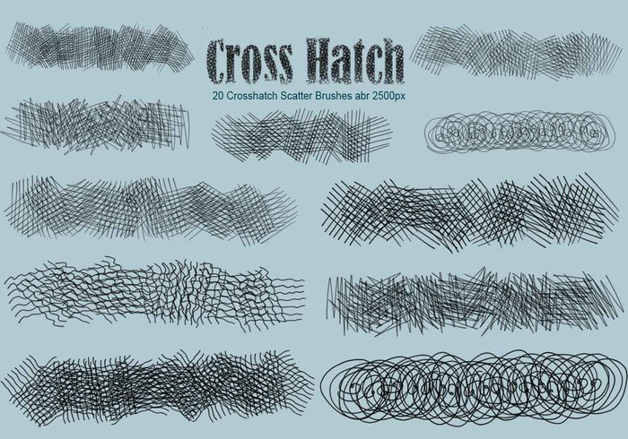 20 Crosshatch Scatter PS Cepillos abr