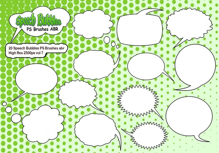 20 Speech Bubbles PS Pinceles abr vol 7