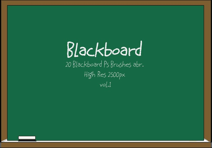 20 Blackboard Ps Brushes abr. vol.1
