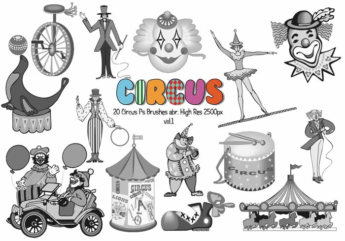 20 Circus Ps Brushes abr. Volúmen 1