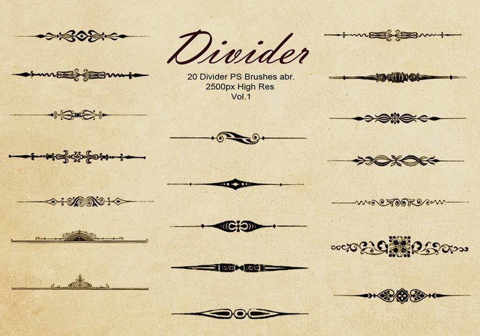 20 Divider Ps Brushes abr. Vol.1