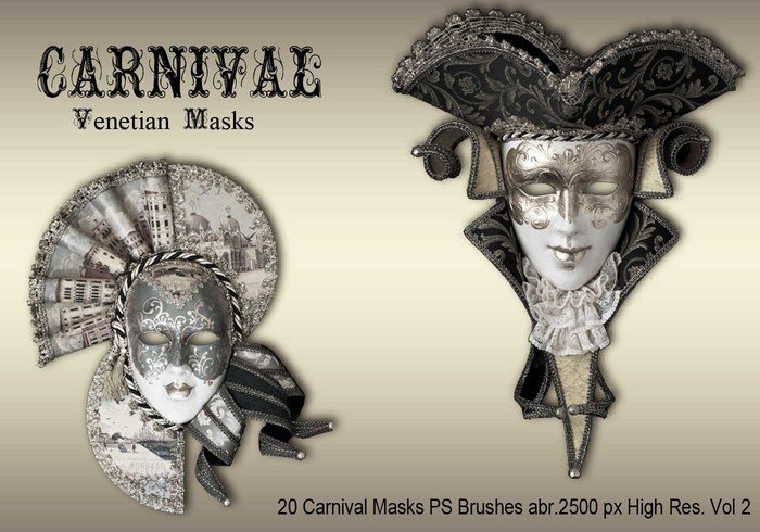 20 masques de carnaval brosses ps abr.vol.2