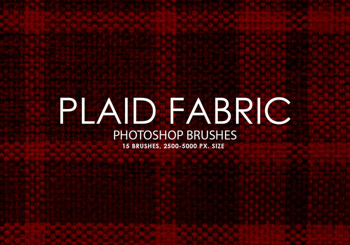 Gratis Plaid Fabric Photoshop Borstels
