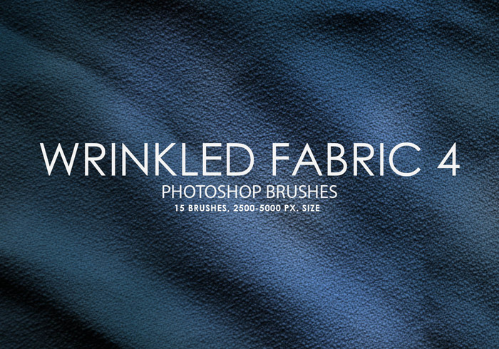 Free Wrinkled Fabric Photoshop Brushes 4