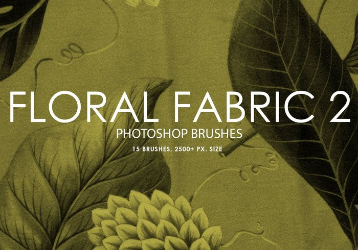 Gratis Floral Fabric Photoshop Borstar 2
