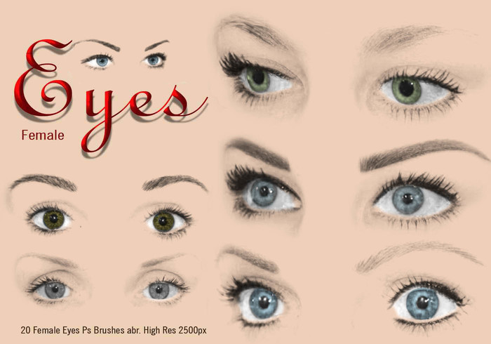 20 Female Eyes Ps Brushes abr. vol.5