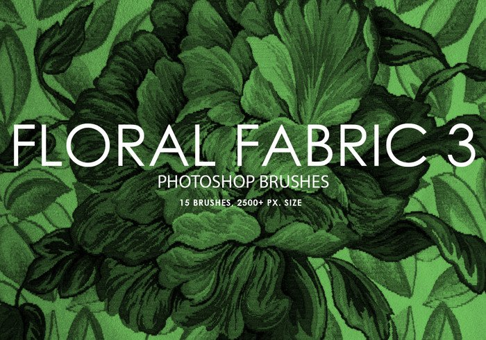 Free Floral Fabric Photoshop Brushes 3
