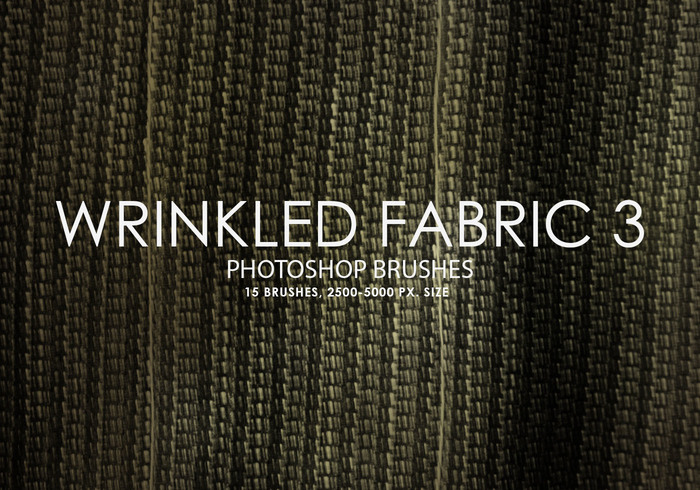 Free Wrinkled Fabric Photoshop Brushes 3