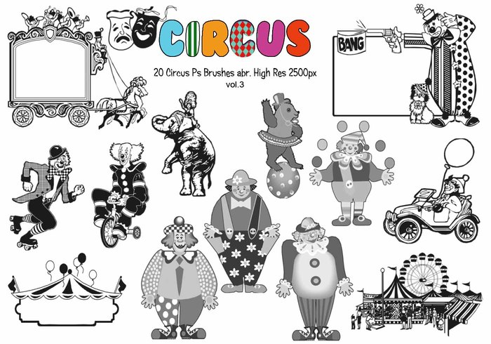 20 Circus Ps Brushes vol.3